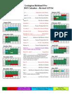 2014-2015 Calendar - Revised 1-27-14