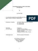 Assessing International Joint Ventures