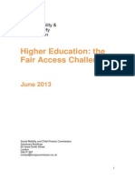 Higher Education - The Fair Access Challenge