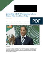16-01-2014 Grupo Fórmula - Quien dirija al PAN debe cohesionar a todos, Moreno Valle. Con López Dóriga.