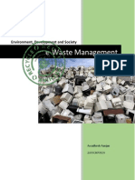 E-Waste Management Term Paper