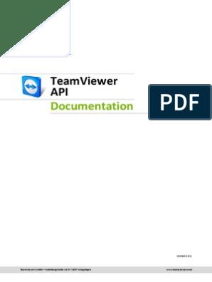 TeamViewer API Documentation | Hypertext Transfer Protocol