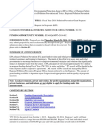 Fiscal Year 2014 Pollution Prevention Grant Program Request for Proposals (RFP)