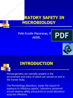 Lecture 6 Laboratory Safety in Microbiology