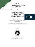 Pub. 145 Nova Scotia and the Saint Lawrence (Enroute), 16th Ed 2013