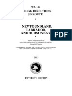 Pub. 146 Newfoundland, Labrador, And Hudson Bay (Enroute), 15th Ed 2013