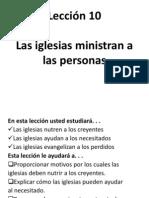 Las Iglesias Ministran a Las Personas