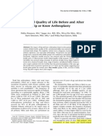 Health-related Ofl Before and After Hip or Knee Replacement