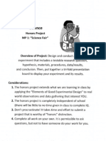 science fair honors project