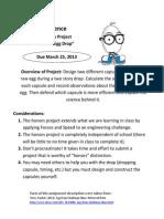 egg drop instruction packet