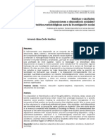 Habitus y capitales. Disposiciones o dispositivos sociales. Notas teórico-metodológicas para la investigación social_p