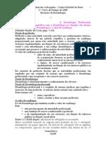 DEONTOLOGIA - Apontamentos da 0.A