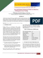 Intake and Exhaust Optimization of Fsae Car Based on Orthogonal Array Testing