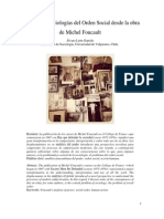 Álvaro León Garrido (Artículo), Crítica a las Sociologías del Orden Social desde la obra de Michel Foucault
