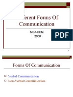 Different Forms of Communication