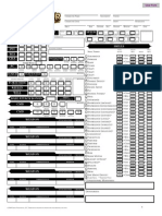 Pathfinder Fillable Character Sheet