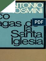 Las Cinco Llagas de La Santa Iglesia (Antonio Rosmini)