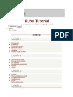 Ruby en 15 Minutos - Ruby Tutorial