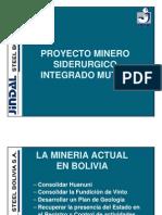 Proyecto Mutún - Pres. JINDAL