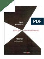 HONNETH Axel Luta Por Reconhecimento