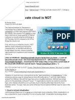 5 Things a Private Cloud is NOT