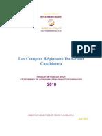 Les comptes régionaux du Grand Casablanca _ PIB et dépenses de consommation finale des ménages 2010