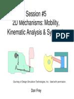 Elements of Mechanical Design - Mechanisms (2D Kinematic Analysis)