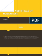 Customs and Rituals of Malaysians