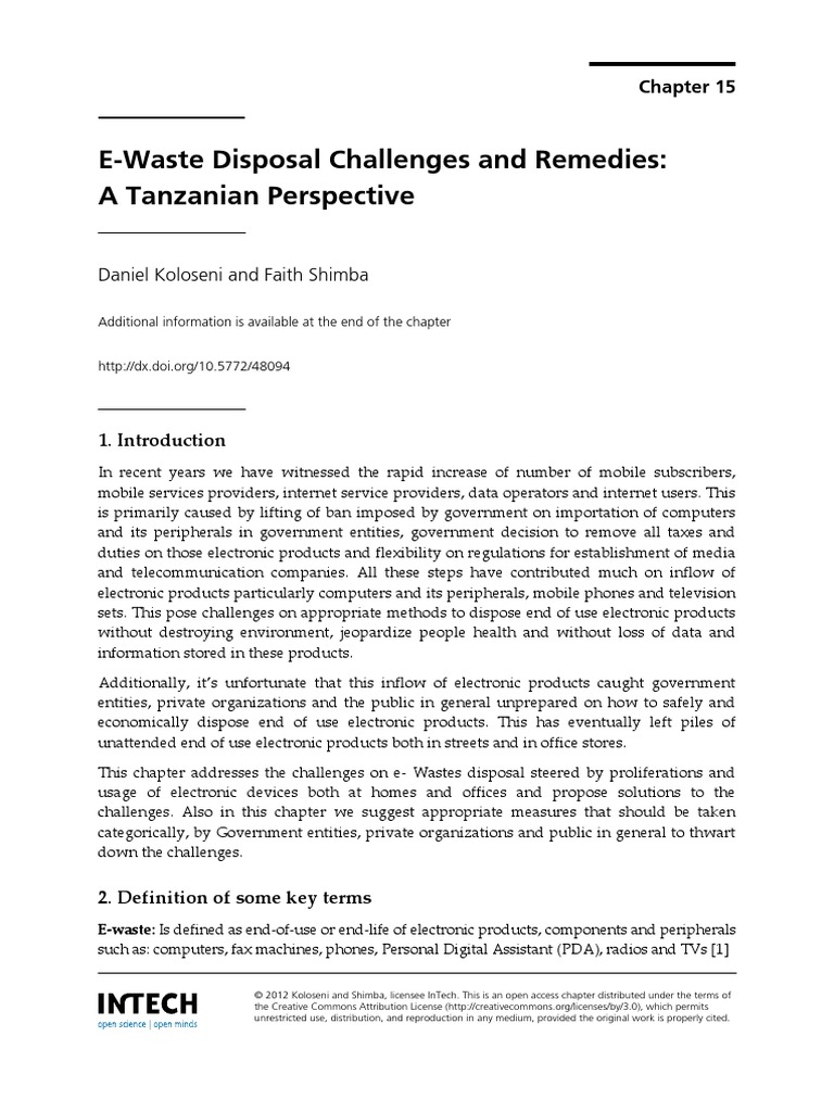 e waste disposal challenges and remedies   electronic waste   waste