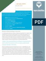 Key international developments for 2014