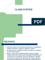Class System and Its Merits