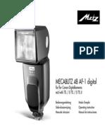 Mecablitz 48 AF-1 Digital Canon D F NL GB I E