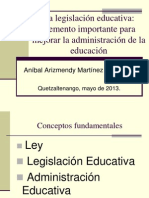 Conferencia sobre legislación educativa