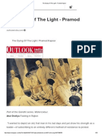 The Dying of the Light - Pramod Kapoor
