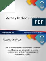 Actos y hechos jurídicos