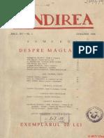 Gandirea, Ianuarie 1936