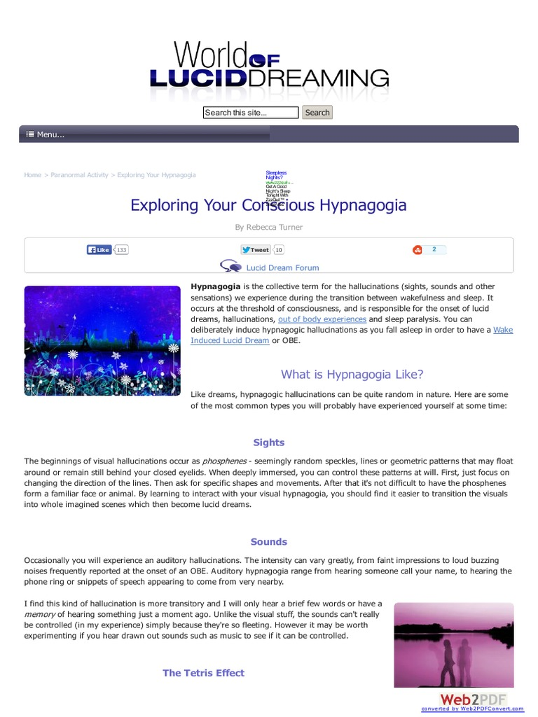 Hypnagogia and Hypnopompia | dream studies portal