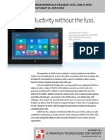 Comparing tablets in common workplace scenarios