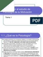 Tema 1 Introducción al estudio de Psicol Motiv