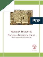 Memoria Encuentro Nacional Izquierda Unida