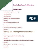 Basics of the Oracle Database Architecture
