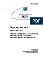 ECSS-Q-ST-70-04C - Thermal testing for the evaluation of space materials, processes, mechanical parts and assemblies