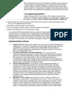 ERP vs BPR , Enterprise resource planning .