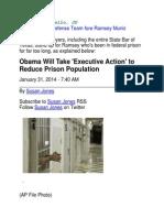 Ramsey Muniz - Obama Will Take Executive Action to Reduce Prison Population