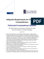 20-Subgrade Requirements for Fabricated Geomembranes