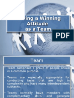 Having a Winning Attitude as a Team