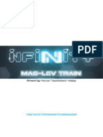 Maglev sci-fi train papermodel for infinity the game