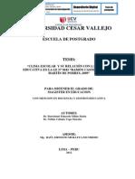 """CLIMA ESCOLAR  Y SU RELACIÓN CON LA CALIDAD EDUCATIVA EN LA I.E Nº 3043 """"RAMÓN CASTILLA""""  DE SAN MARTÍN DE PORRES, 2009"""