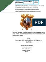 ESTUDIO DE LA ACTIVIDAD DE CATALIZADORES BIMETÁLICOS Ni-Cu SOBRE DIFERENTES SOPORTES, EN LA HIDROGENACIÓN DE ACEITE DE SOYA