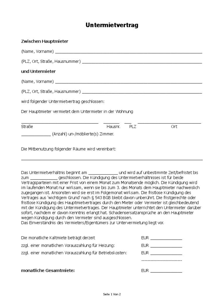 Schön Miete Mietvertrag Vorlage Galerie - Beispielzusammenfassung ...